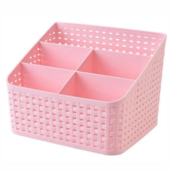 Cute storage box cosmetics DIY Multifunctional Organizer makeup Desktop pink Price Philippines