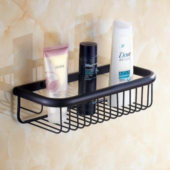 Harga Wall Mounted 11.81 Inch Bathroom Shower Caddy Bath Rectangular Storage Basket Shelf, Oil Rubbed Bronze Finish - intl