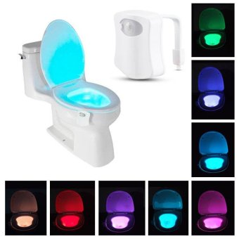 8-Color LED Motion Sensing Automatic Toilet Bowl Night Light - intl Price Philippines