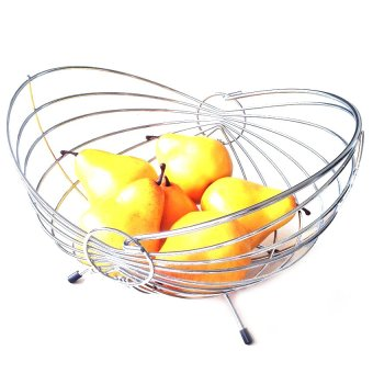 Harga Ideal Home Stainless Fruit Basket (Chrome Plated)