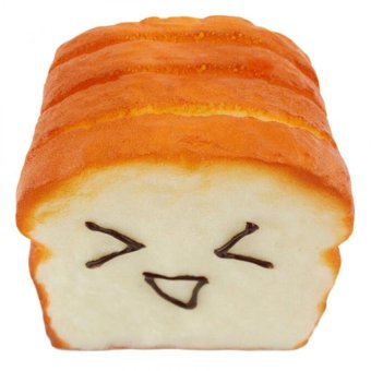 Amango Kawaii Jumbo Toast Squishy Expression Card Cellphone HolderHand Pillow Price Philippines