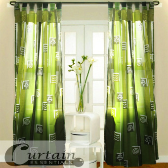 Harga Curtain Essentials Swirl Forest Single Panel