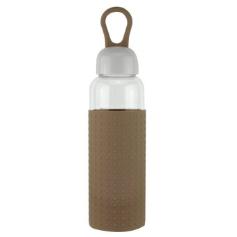 Harga Joyce Mllan 420ml Outdoor & Indoor Portable Glass Drinking Water Bottle (brown)