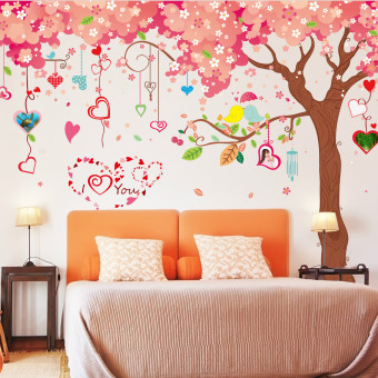 Harga Very Large Cherry Wall Decoration Stickers (Pink-12)