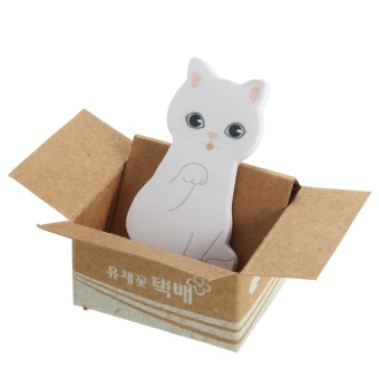 Cute Mini Kitty Cat House Sticker Post Pad Bookmark Mark Tab Memo Sticky Notes white - intl Price Philippines