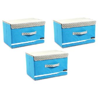 Harga Manhattan Homemaker Portable Collapsible Box Set of 3 (Blue)
