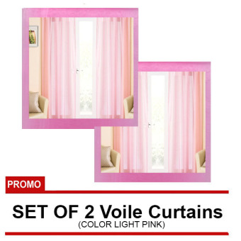 Harga Voile Rainbow Curtains Set of 2 (Pink)