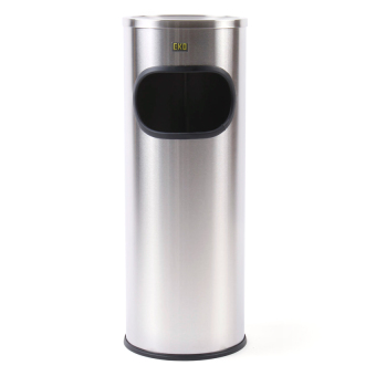 Eko 9L. Ashtray Trash Bin (Silver) Price Philippines