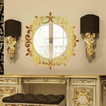 BUYINCOINS Wall Stickers Decorative Room Wall-Mounted Mirrors (Golden) - intl Price Philippines