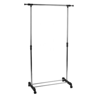 Harga Single-Pole Stainless Steel Clothes Rack (Silver)