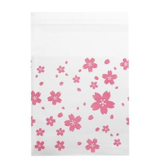 Harga 100Pcs Plastic Cookie Biscuit Candy Bag (Oriental Cherry 7 x 7cm ) - intl