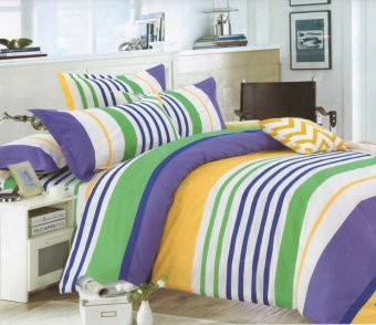 Harga 3 piece Monet Nautical Stripes bedhseet set