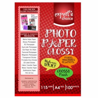 Expert's Choice 115g Glossy Photopaper A4 (100 Sheets) Price Philippines