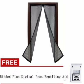 Magic Mesh Instant Screen Door (Black) with Free Riddex Plus Digital Pest Repelling Aid Price Philippines