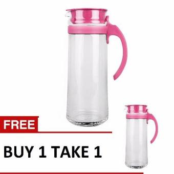 Harga Ocean Glassware Patio Pitcher with Handle (Pink-1) Set of 2