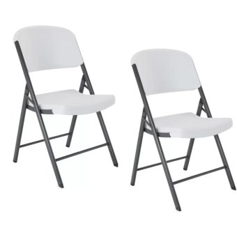 Harga Lifetime 42804 Folding Chair, White Granite (Set of 2)