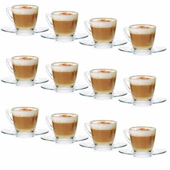 Harga Ocean Glassware Kenya 236ml Cappuccino Cup Set of 12 (1P016411)