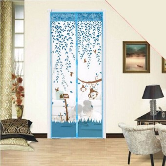 90x210cm Magic Curtain Mesh Net Screen Door Magnetic Anti Mosquito Bug Fly Hands Free New Light Blue - intl Price Philippines