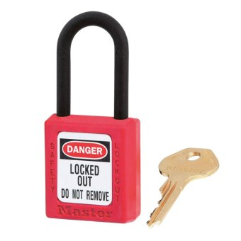 Harga Master Lock LOCK OUT TAG OUT PADLOCK(TEMP & CHEMICAL RESISTANT)406RED