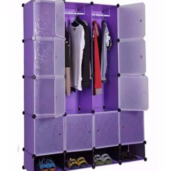 Tupper Cabinet 16 Cubes Full DIY Wardrobe With Shoe Rack (Violet) Price Philippines