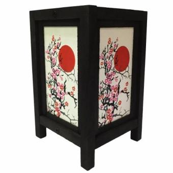 Harga Oriental Wooden Lamp - Cherry Blossom (Red)