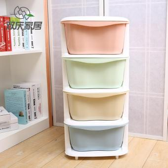 Drawer type clothes storage cabinet children's toy cabinet - four layers Price Philippines