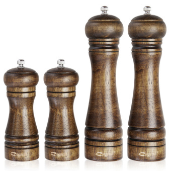 4 pcs/set Classic Cooking BBQ Tools Set Oak Wood Pepper Spice Mill Grinder Set - Intl Price Philippines