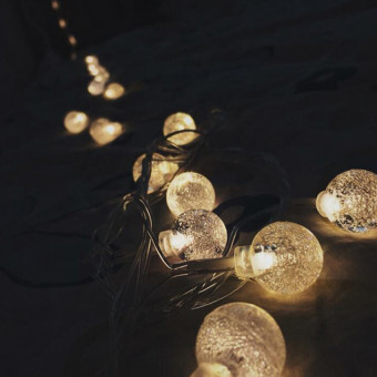 Crystal Ball Warm White Hanging Lights - intl Price Philippines