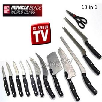 Harga Rising Star Miracle Blade World Class 13PCS knife set TV
