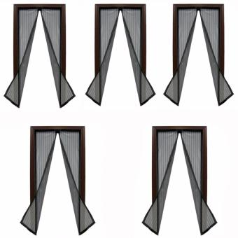 Magic Mesh Instant Screen Door (Black) Set of 5 Price Philippines