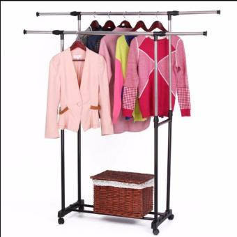Harga Adjustable Double Pole Clothes Rack