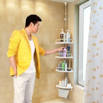 Harga MEI-MEI Large Multi Bathroom Corner Shelf (White)