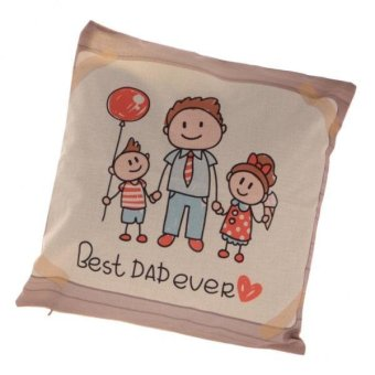 MagiDeal BEST DAD EVER Linen Throw Pillow Case (Dad & Kids) Price Philippines