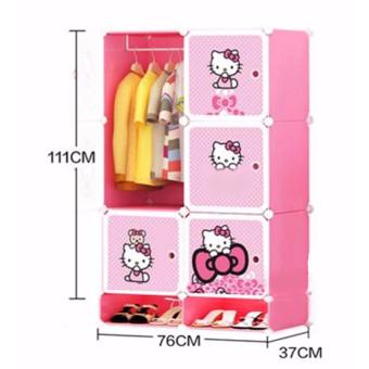 Tupper Cabinet 6 Cubes Wardrobe With Shoe Rack HK (Pink) Price Philippines