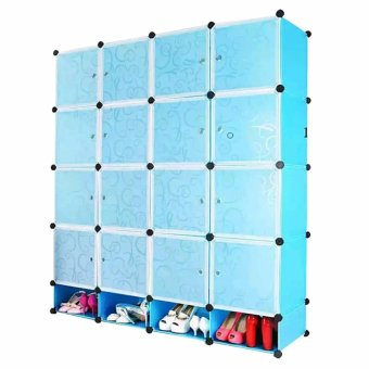 Tupper Cabinet 16 Cubes Doors DIY Storage Cabinet with Bottom Shoe Rack Price Philippines