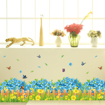Indie foot line self-adhesive classroom adhesive paper wall stickers
