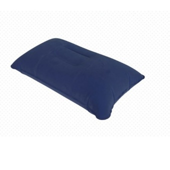 Inflatable Pillow Travel Air Cushion Camp Beach Car Plane Head RestBed Sleep for Outdoor Sport - intl