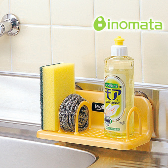 Inomata bathroom small things organizing drain rack suction cup shelf