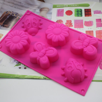 Insect flower handmade soap jelly pudding silicone Mold