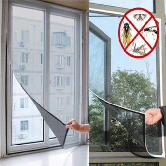 Insect Mosquito Door Mesh Screen Curtain Protector Window Net With Tape