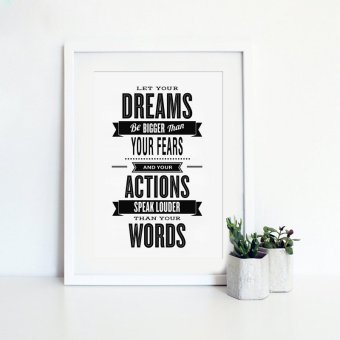 Inspiration Quote Canvas Art Print Painting Poster, Wall Picturesfor Home Decoration, Home Decor YE019 Price Philippines