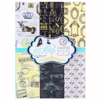 INSPIRE Elegant 24 Semi Gloss Patterned Papers Sheets CreativeScrapbooking Paper Pack #11 Price Philippines