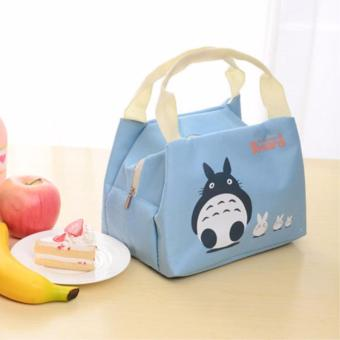 Insulated Lunch Bag Fashion Lunch Box Tote Waterproof Oxford ClothZipper Picnic Storage Bag