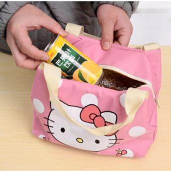 Insulated Lunch Bag Fashion Lunch Box Tote Waterproof Oxford ClothZipper Picnic Storage Bag - 3