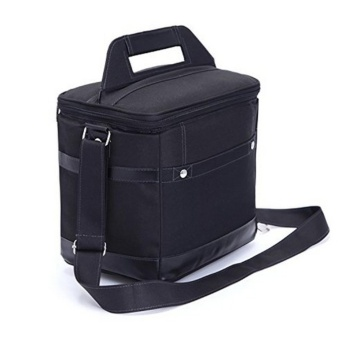 Insulated Lunch Bag Tote Black Food Handbag lunch box with ShoulderStrap For Men Work Outdoor - intl Price Philippines