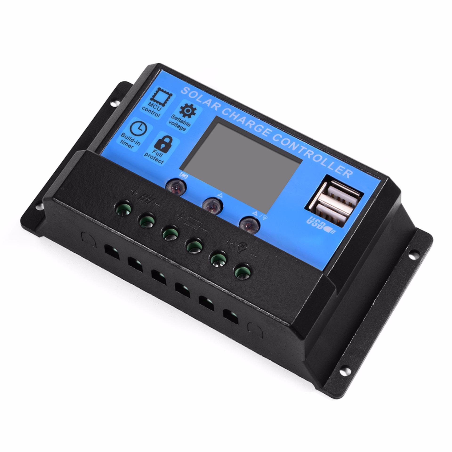 Philippines Intelligent 10a Solar Panel Charge Controller 12v 24v Pwm Batteryregulator