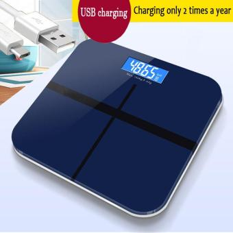 Intelligent Electronic Scales Weight Scales USB Charging (Blue) -Intl