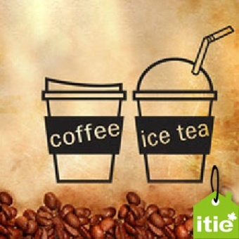 Itie green tea restaurant hall wall stickers PARK'S cup