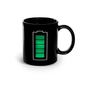 Iyach Heat Activated Design Battery Changing Mug (Black)