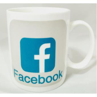 Iyach Heat Activated Design Changing Mug - Facebook(White)